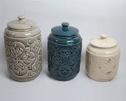 ceramic kitchen canister sets drewderosedesigns rustic quilted 3 kitchen canister set