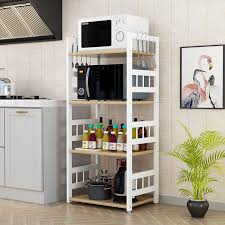 kitchen pantry storage cabinet microwave oven stand with storage kitchen rack floor standing multi layer microwave oven dish cabinets seasoning pot rack household storage shelf