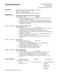 quality assurance resume quality assurance resume sle resume for study