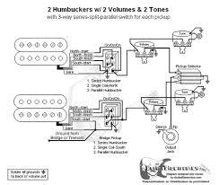 hbs 3 way toggle 2 vol 2 tones series split parallel