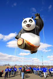 the kung fu panda balloon from macy s thanksgiving day parade