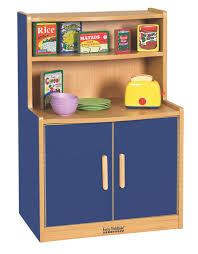 ecr4kids colorful essentials play kitchen cupboard