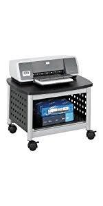 Under Desk Printer Stand With Wheels Amazon Com Safco Products 5206bl Under Desk Printer Machine Stand
