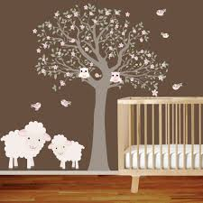 Nursery Wall Decals Animals by Nursery Wall Decals Tree Butterfly Baby Crib Mobile Creamy
