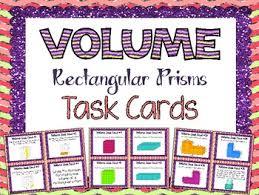 volume task cards by teaching with a mountain view tpt