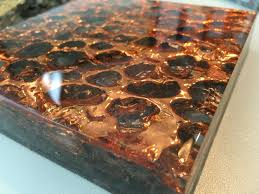 Epoxy Table Top Ideas by Alusion Chromed Copper And Moulded All Over With Epoxy Resin By