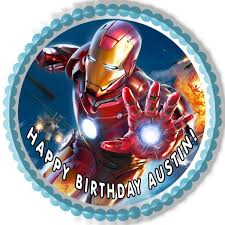 iron cake topper iron edible birthday cake or cupcake topper edible prints on