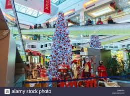 montreuil france christmas decorations inside shopping mall in