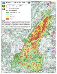 Ca Wildfire Map 2014 by King Fire Provides Learning Opportunities Forest Research And