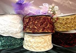 ribbon with wire rosette wire edge petal taffeta ribbon floral supply