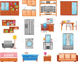 furniture isolated icon set stock vector art 513372206 istock