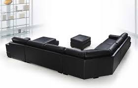 Black Sectional Sofa With Chaise Vg Rz Modern Black Sectional Sofa Leather Sectionals