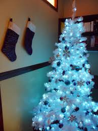luhivy u0027s favorite things silver white and blue christmas tree