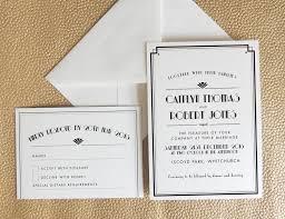 Art Deco Wedding Art Deco Wedding Invitations Lilbibby Com