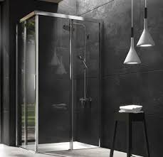 glass shower cubicle aluminum corner with sliding door