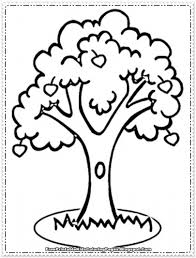 4 best images of apple tree coloring printable apple tree