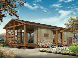 house plan w1901 detail from drummondhouseplans w1907 modern rustic 700 sq ft tiny small house plan