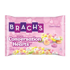 s day heart candy brach s tiny conversation hearts candy calories nutrition analysis