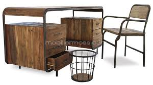 bureau industriel bois et metal bureau industriel metal bois maison design bahbe com