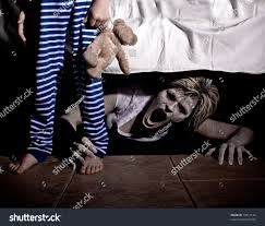 under the bed boogie man under bed scaring young stock photo 79317142 shutterstock