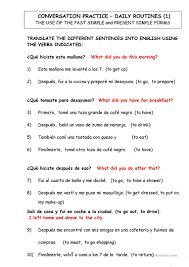 46 free esl spanish worksheets