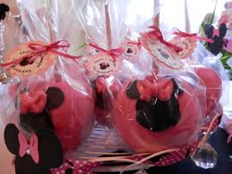 candy apple party favors minnie mouse candy apples s 1st b day candy