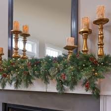 Outdoor Lighted Garland Pre Lit Classic Lighted Christmas Garland 6 U0027 Improvements Catalog