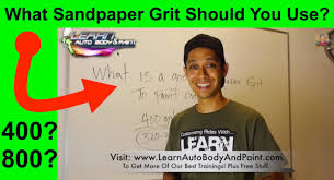 best sandpaper grit for car painting 400 600 800 grit youtube