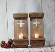 two rustic wall sconce reclaimed wood wall cross u2013 gft woodcraft