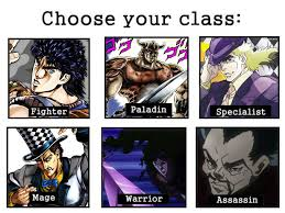 Rpg Memes - phantom blood the rpg choose your class know your meme