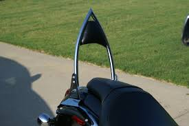 meancycles gothic passenger backrest for vulcan 900 classic