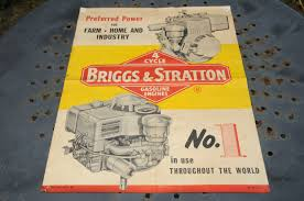 vintage briggs u0026 stratton 4 cycle engine poster for gasoline