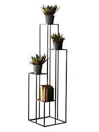 Plant Pedestal Black Iron Multilevel Pedestal Table Iron Modern And Iron Furniture