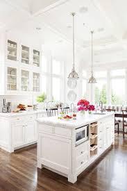 Kitchen Glass Cabinets by Kitchen Style White Farmhouse Kitchens Design Dark Hardwood