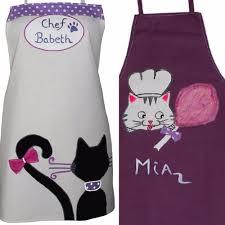 tablier cuisine fille tabliers cuisine personnalisés mère et fille sur le thème du