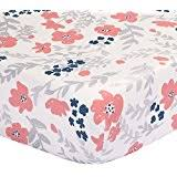 Navy And Coral Baby Bedding Amazon Com Floral Crib Bedding Bedding Baby Products