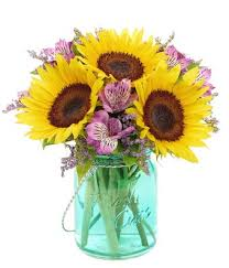 jar flowers sunflower jar bouquet at from you flowers