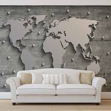 wall mural photo wallpaper xxl world map concrete wall 10420ws wall mural photo wallpaper xxl world map concrete