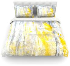 Yellow And Grey Bed Set Amazing Carollynn Tice Abstraction Gray Yellow Cotton Duvet Cover