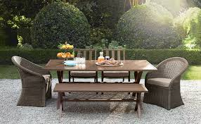 Threshold Belvedere Patio Furniture by Patio Patio High Top Table Charming Dark Brown Rectangle Modern