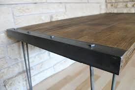amazon com industrial rustic reclaimed wood coffee table on