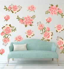 flower wall decals gardens and landscapings decoration wall pretty pink graphic flower wall decal set wall decal wall