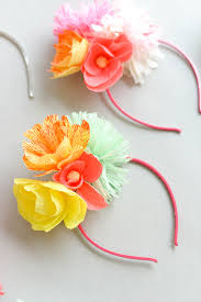 headband flowers paper flower headband diy