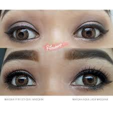 Eyeliner Dan Maskara Wardah wardah eye xpert curl mascara elevenia