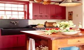 red kitchen cabinets country kitchen red cabinets red kitchen