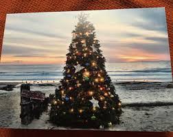 beach christmas card etsy