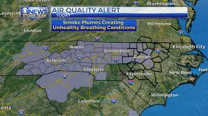 Map Of Tennessee And North Carolina by Triangle Air Quality Moves To U0027code Orange U0027 Due To Wildfires Wncn