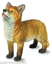 fox garden ornament ebay
