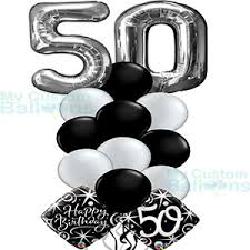 50th birthday balloon bouquets age balloon bouquets archives my custom balloons