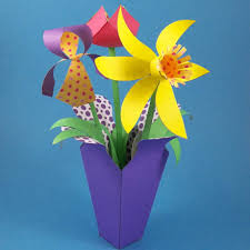 Spring Flower Bouquets - make a spring paper flower bouquet party decoration craft